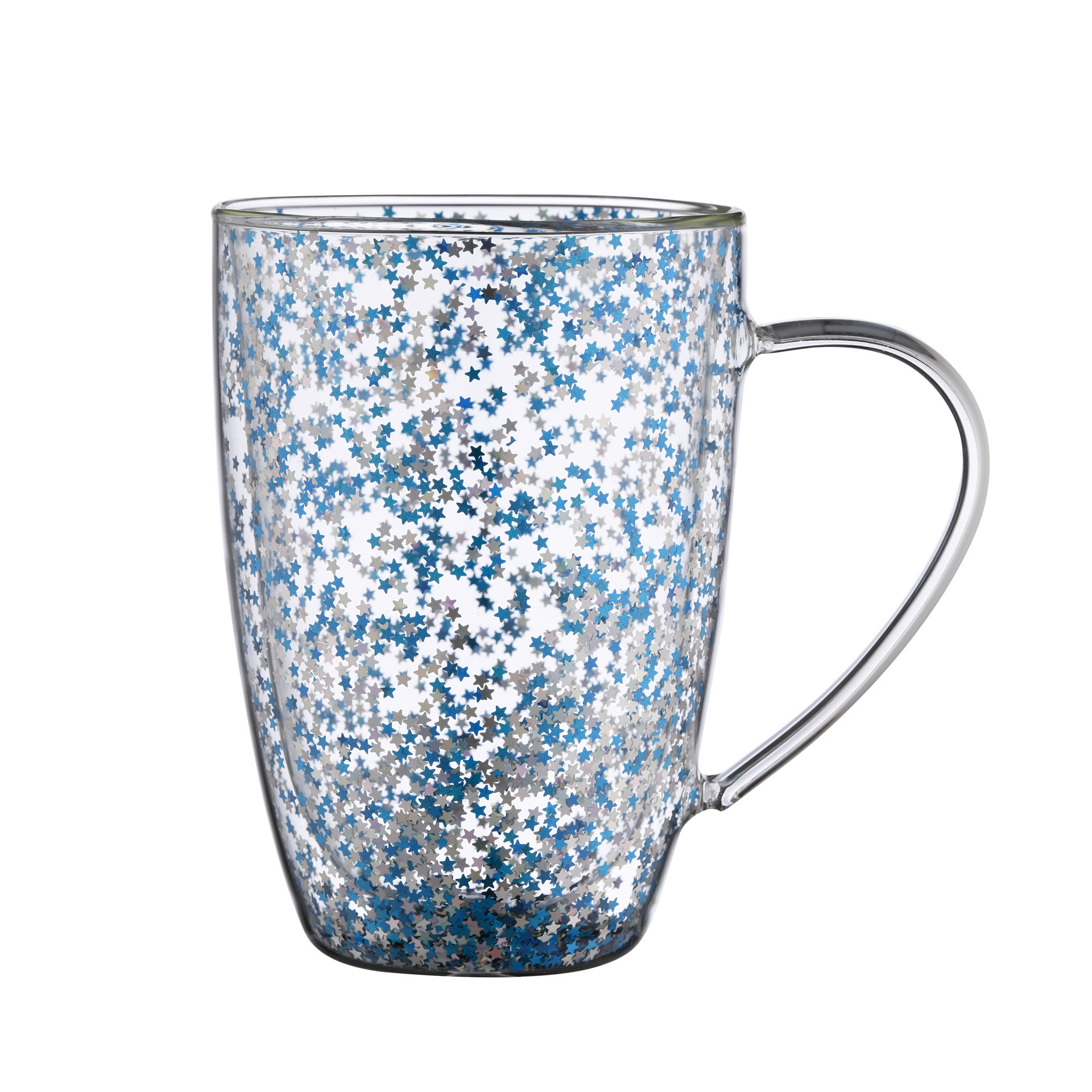 double wall glass with handle