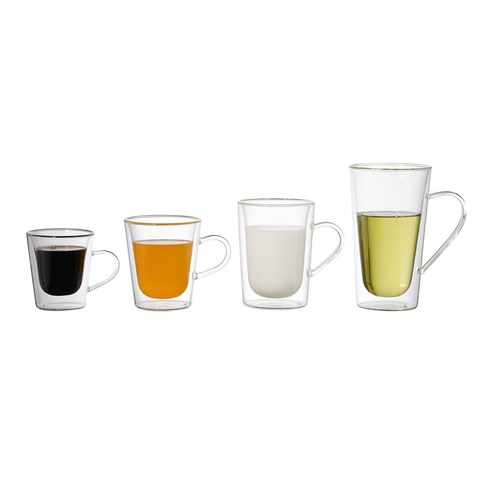 Factory Manufacturer Wholesale hand-made Eco-friendly high borosilicate Coffee Glassware double wall glass cup
