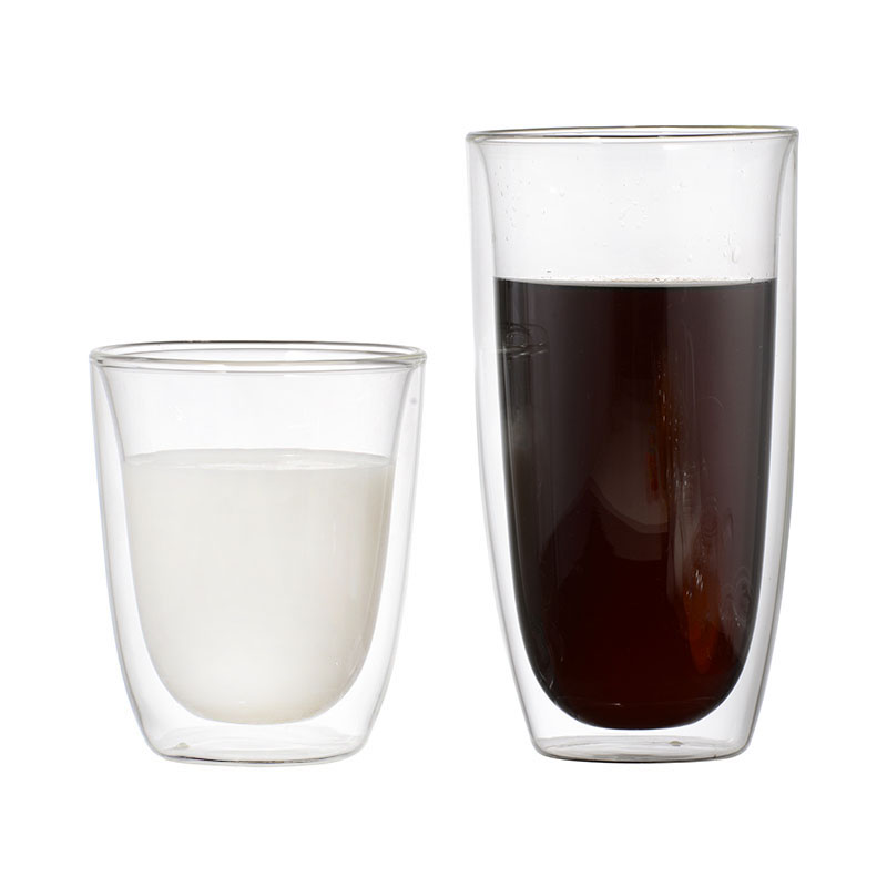 High borosilicate double layer glass cup creative egg-shaped transparent high-grade insulation mugs water cup