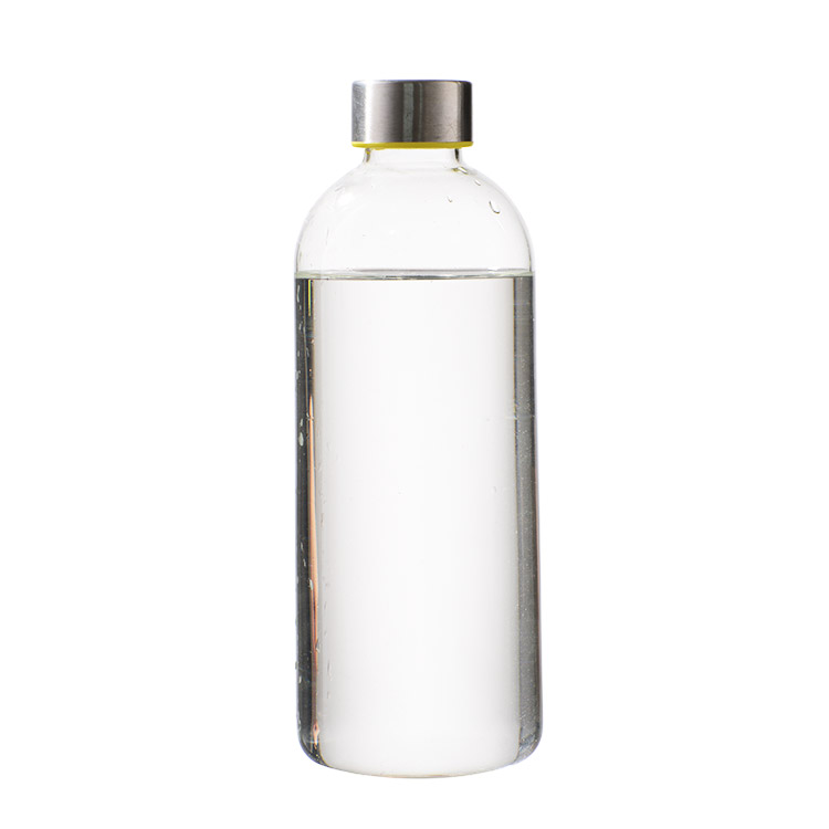 Wholesale 500ml Portable Reusable Clear Glass Water Bottle With Stainless Steel Lid