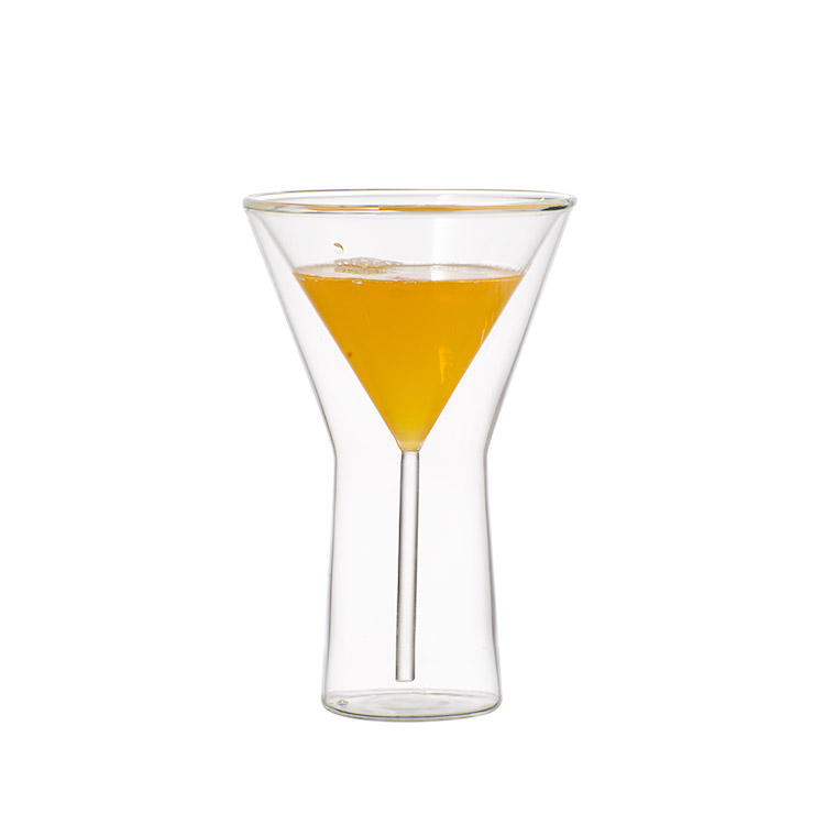 Champagne Glass Double Wall Glasses Flutes Goblet Bubble Wine Tulip Cocktail Wedding Party Cup