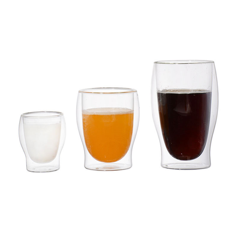 Water Bottle Coffee Cup Set Heat-resistant Double Wall Glass Cup Beer Handmade Beer Mug Tea Whiskey Glass Cups