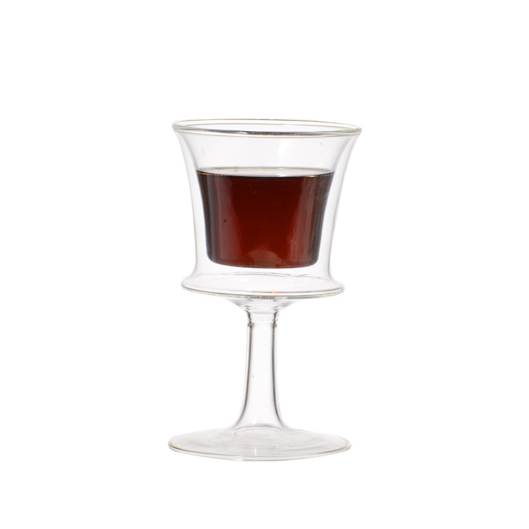 Wholesale european style retro diamond transparent crystal red goblet wine Glass cup