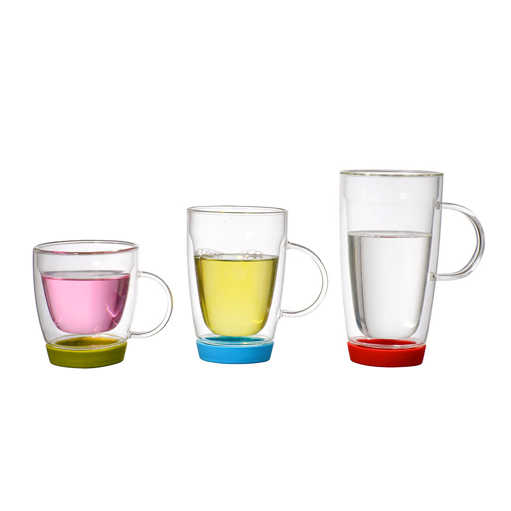 Double ironing glasses with high borosilicate rubber strap