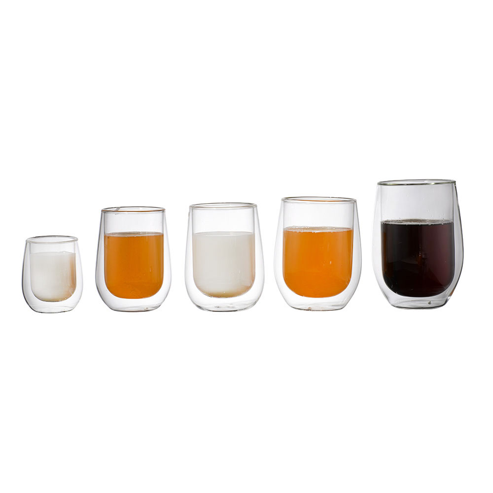 Wholesale custom coffee cup and double wall glass coffee cup