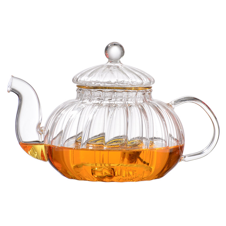 Flowering Teas Clear Borosilicate Glass Blooming and Loose Leaf Tea Infuser Cup and Strainer Set