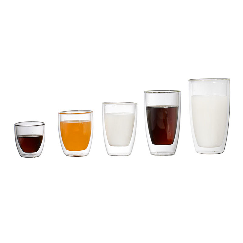 Glassware Tumbler Cups Double Wall Glass Cup Perfect Coffee Cup for Wine or Juice